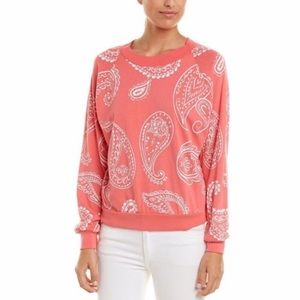 NWT Wildfox Coral Paisley Crewneck Sweater